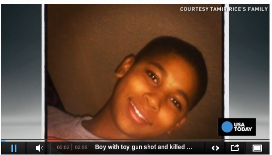 12-year-old boy gunned down and killed for playing with toy gun.