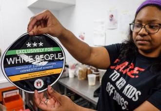 Austin-White People Stickers